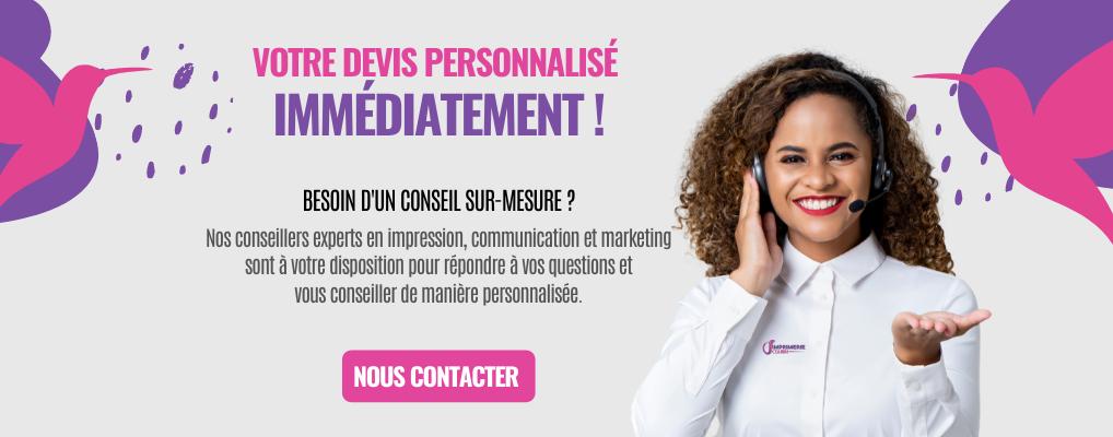 Nos conseillers experts en impression, communication et marketing sont à votre disposition pour répondre à vos questions et vous conseiller de manière personnalisée.